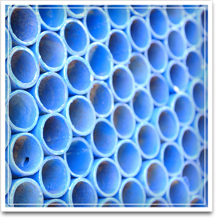 Picture of blue pipes